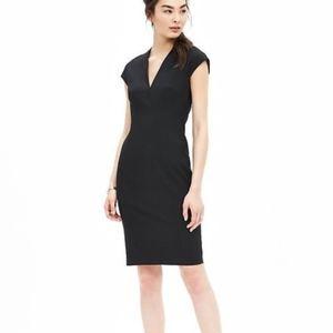 Black Cap Sleeve Sheath Dress